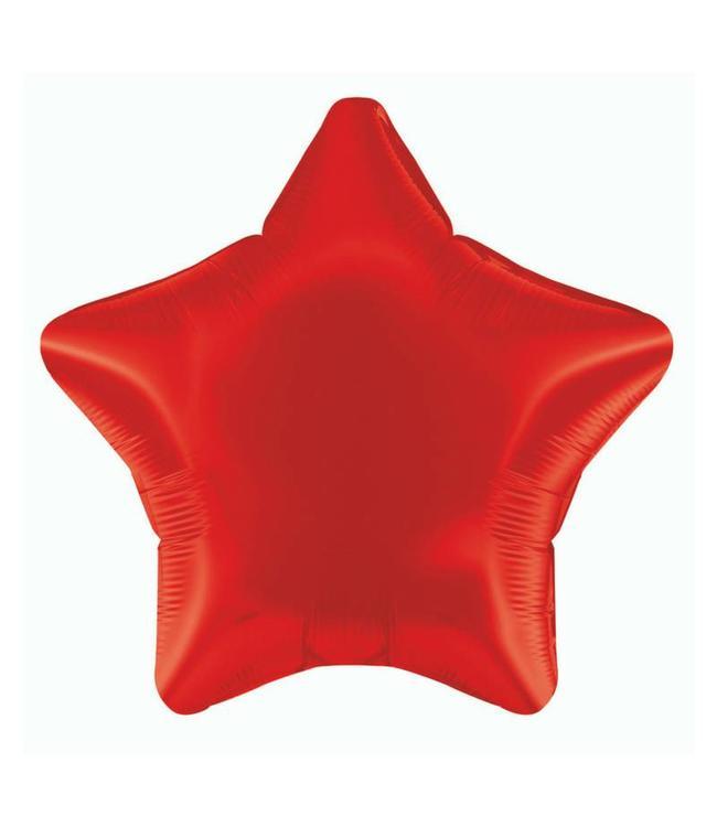 Unique Folieballon Ster Rood - 51 cm