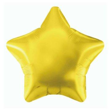 Unique Folieballon Ster Goud - 51 cm