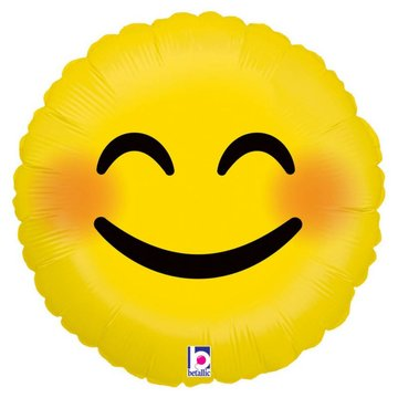 Betallic Emoji Smiley Folieballon - 46 cm