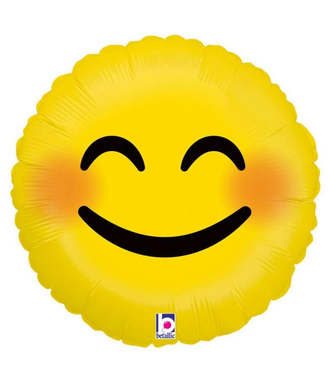 Betallic Emoji Smiley Folieballon - 46 cm