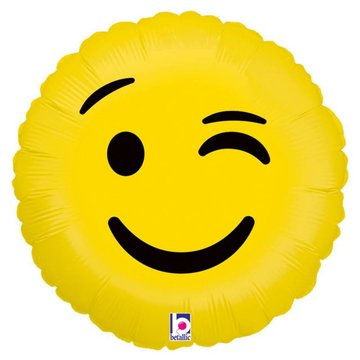 Betallic Emoji Wink Folieballon - 46 cm
