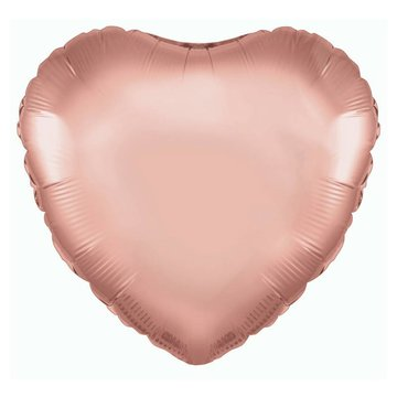 Betallic Folieballon Hart Roségoud - 46 cm