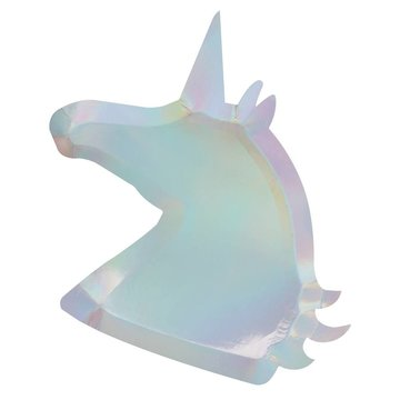 Ginger Ray Make a Wish Unicorn Borden Holografisch - 8 stuks