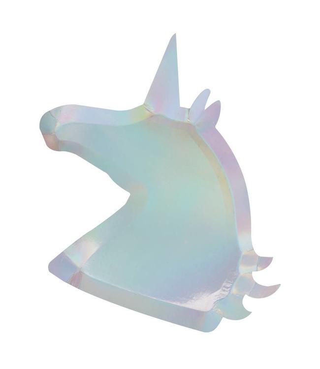 Ginger Ray Make a Wish Unicorn Borden Holografisch - 8 stuks