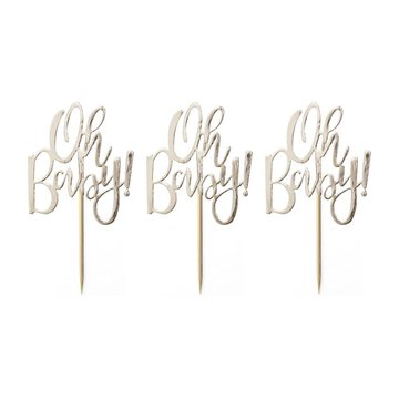 Ginger Ray Oh Baby! Cupcake Toppers - 12 stuks