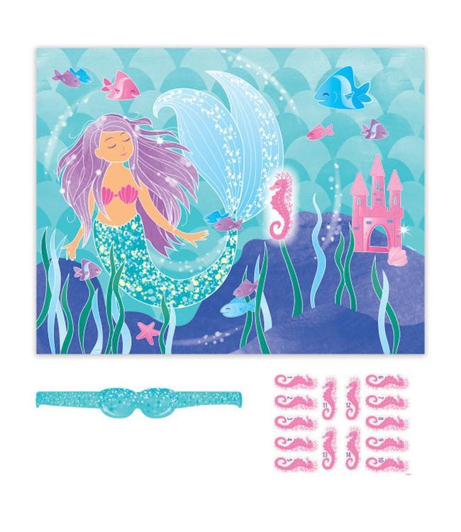 Unique Mermaid Spel 'Ezeltje Prik' - Set van 16 items
