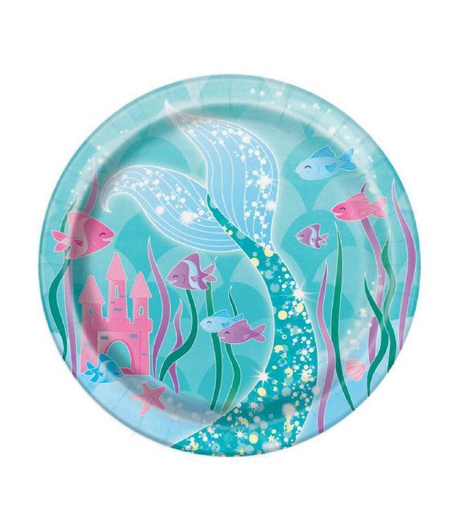 Unique Mermaid Bordjes - 8 stuks - Zeemeermin Feestje