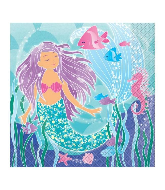 Unique Mermaid Servetten - 16 stuks - Zeemeermin Feestje