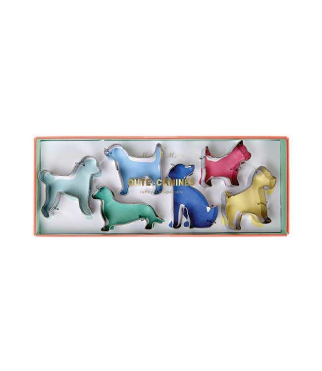 Meri Meri Cookie Cutters  Honden - Set van 6 - Uitsteekvormen