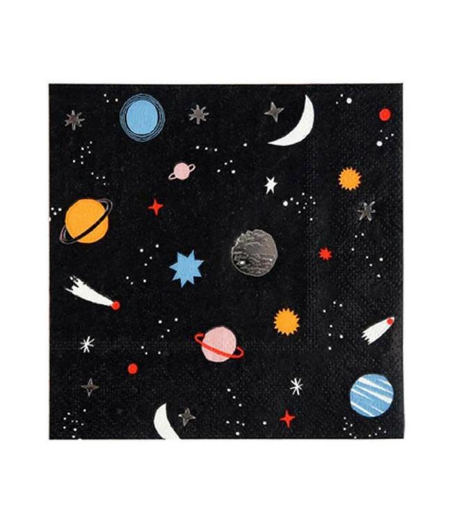 Meri Meri Space Servetten - 16 stuks - Ruimtevaart feestartikelen