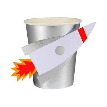 Meri Meri Space Raket Bekers - 8 stuks