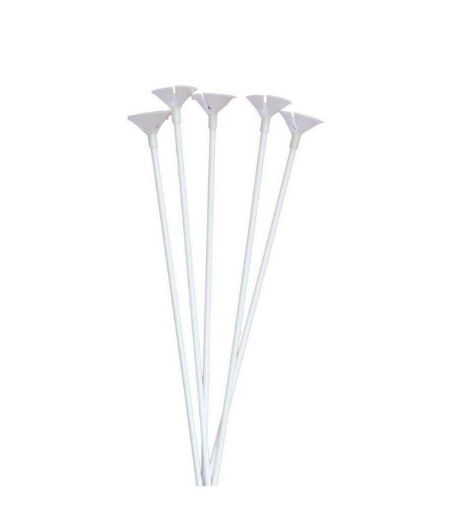 Folat Ballonstokjes - 10 stuks - wit