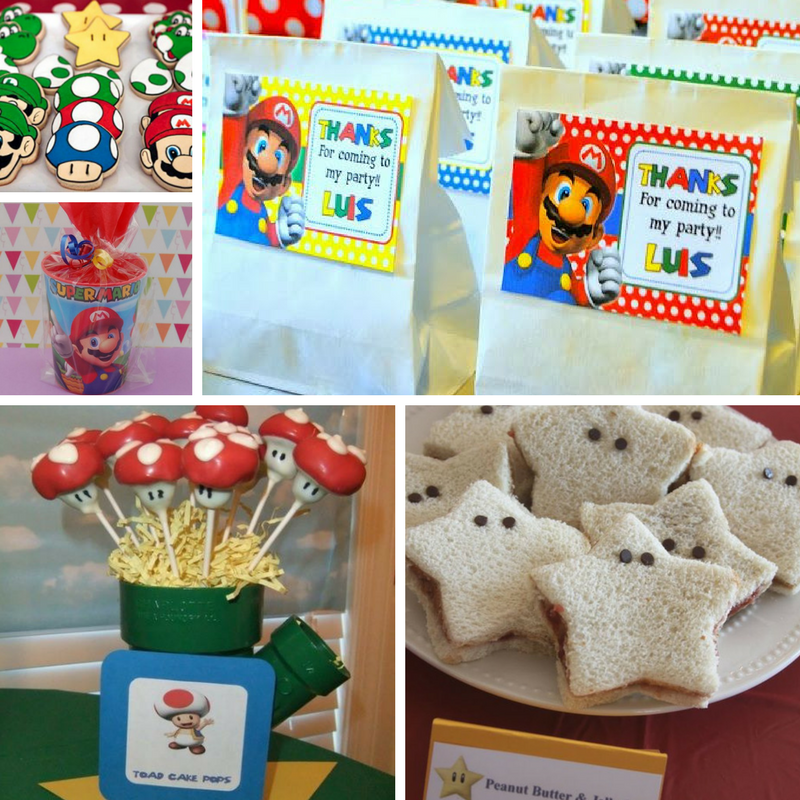 Super Mario feestje - snacks en traktaties