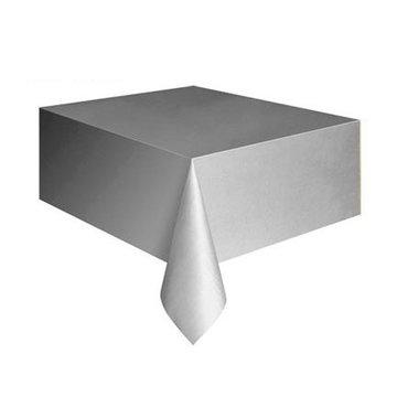 Unique Zilver Tafelkleed - 137 x 274 cm - plastic