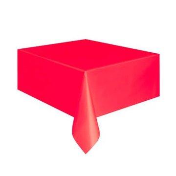 Unique Rood Tafelkleed - 1,37 x 2,74 meter - plastic