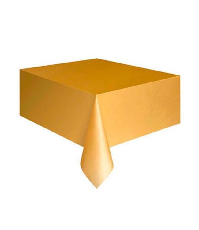 Unique Goud Tafelkleed - 1,37 x 2,74 meter - plastic - gouden feestartikelen