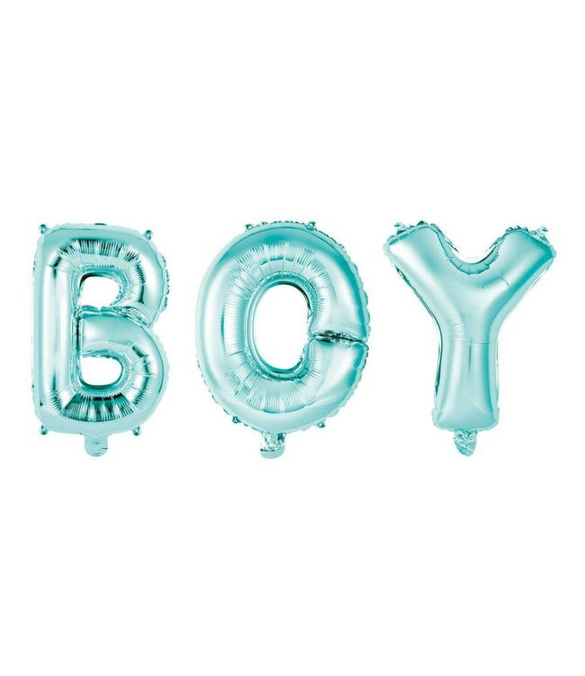 Unique Folieballon 'Boy' Blauw (balloon kit) - 40 cm hoog