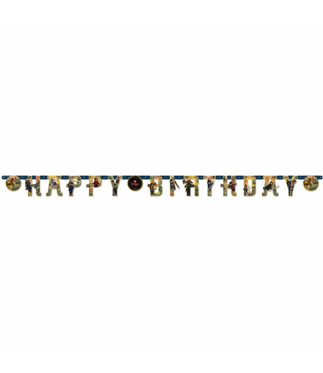 Amscan LEGO Ninjago slinger 'Happy Birthday' - per stuk