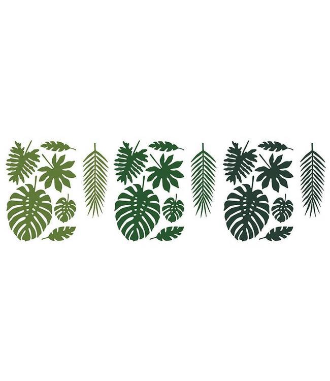 Partydeco Tropical Decoratie Blaadjes - 21 stuks - Aloha
