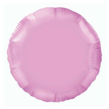 Unique Folieballon Rond Lichtroze - 46 cm
