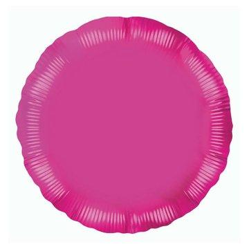 Unique Folieballon Rond Roze - 46 cm
