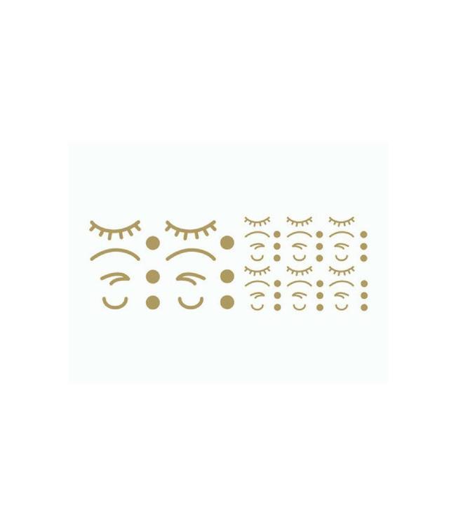 Atelier Pierre Stickers Iconen Gezicht Goud (Klein) - 56 losse stickers