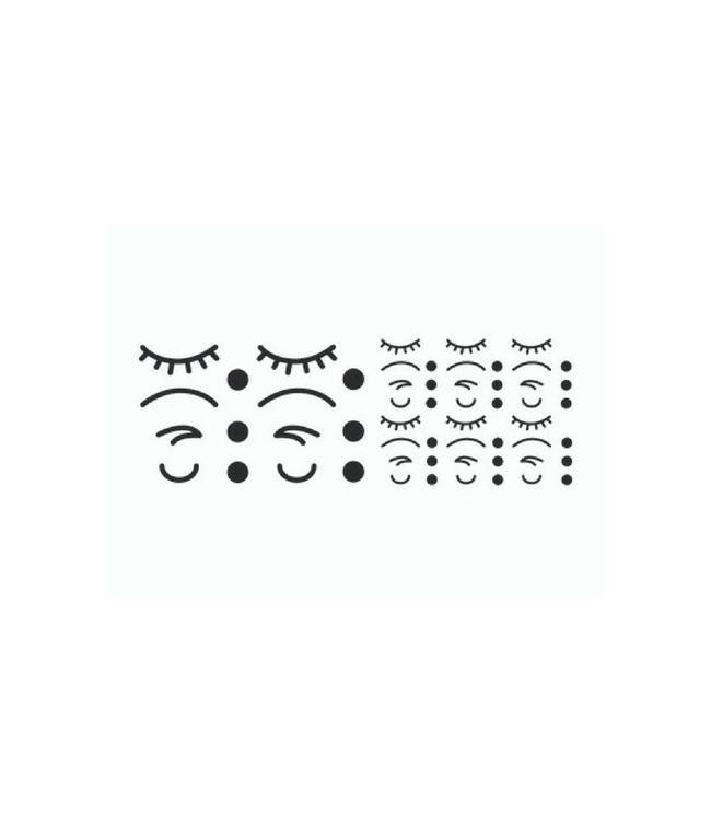 bb collections Stickers Iconen Gezicht Zwart (Klein) - 56 losse stickers