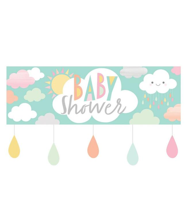 Creative Party Lief Wolkje Baby Shower Banner - per stuk
