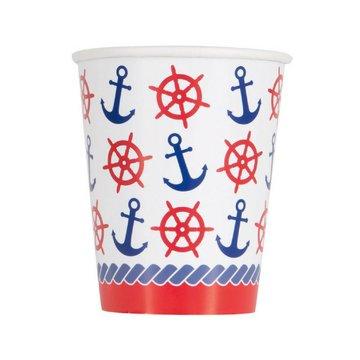 Unique Nautical Bekers - 8 stuks - nautische feestartikelen
