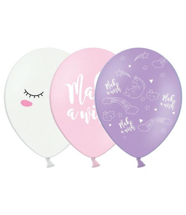 Partydeco Unicorn Ballonnen - 6 stuks - 30 cm