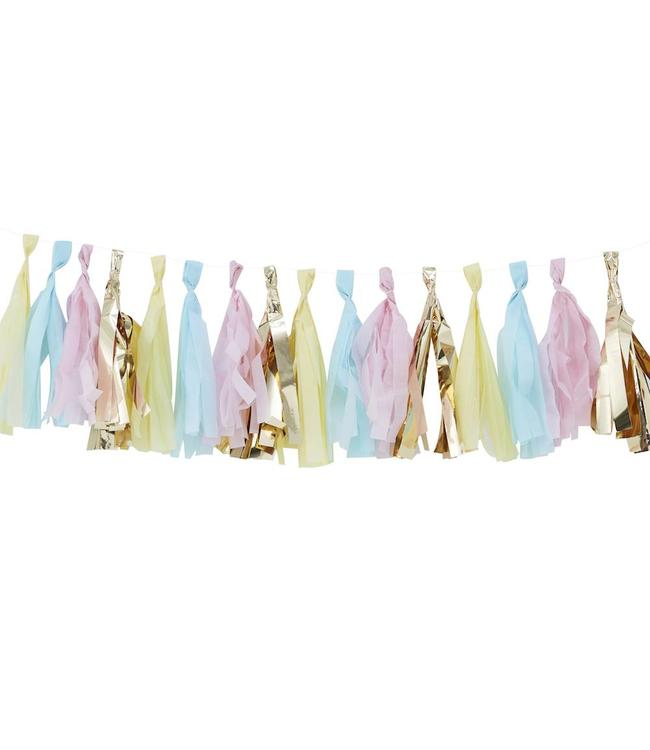 Ginger Ray Tasselslinger Pastel & Goud -  16 tassels