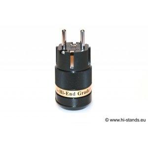 IeGo Schuko Plug Rhodium plated 8075 BK (Ru)