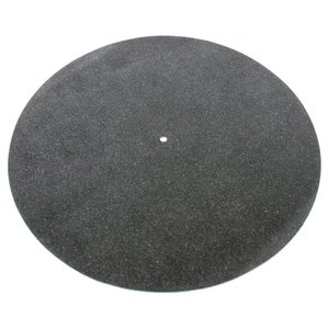 Tonar Black leather turntable mat