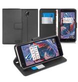Orzly Wallet Flip Case Zwart OnePlus 3/3T
