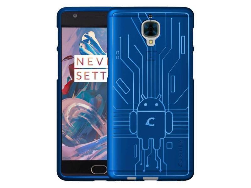 Cruzerlite Bugdroid Case Blauw OnePlus 3/3T