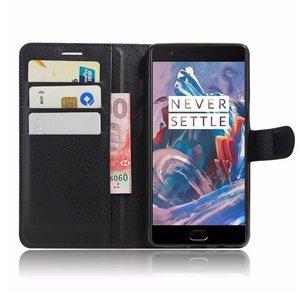 OPPRO Wallet Flip Case Black OnePlus 3