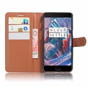 OPPRO Wallet Flip Case Brown OnePlus 3