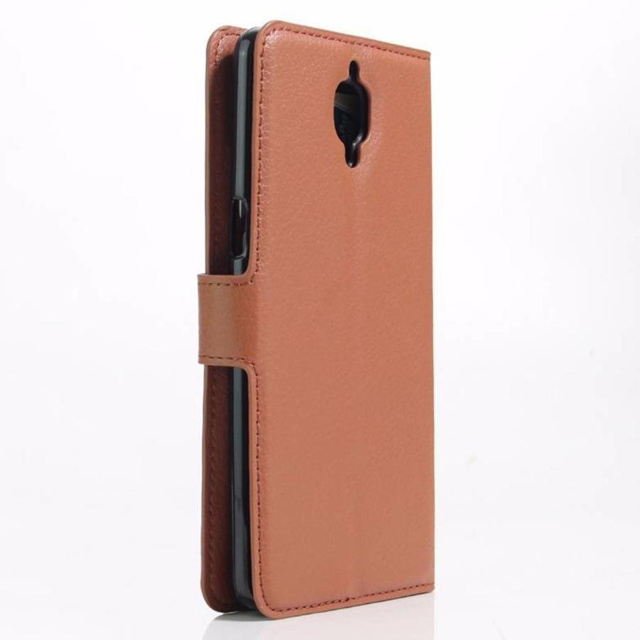 Wallet Flip Case Brown OnePlus 3