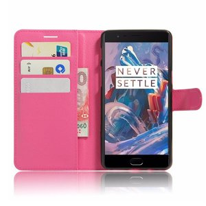 OPPRO Wallet Flip Case Purple OnePlus 3 - Copy