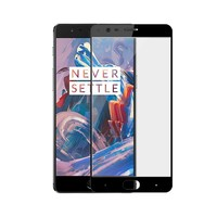 9H Full Glue Glass Screen Protector Black OnePlus 3/3T