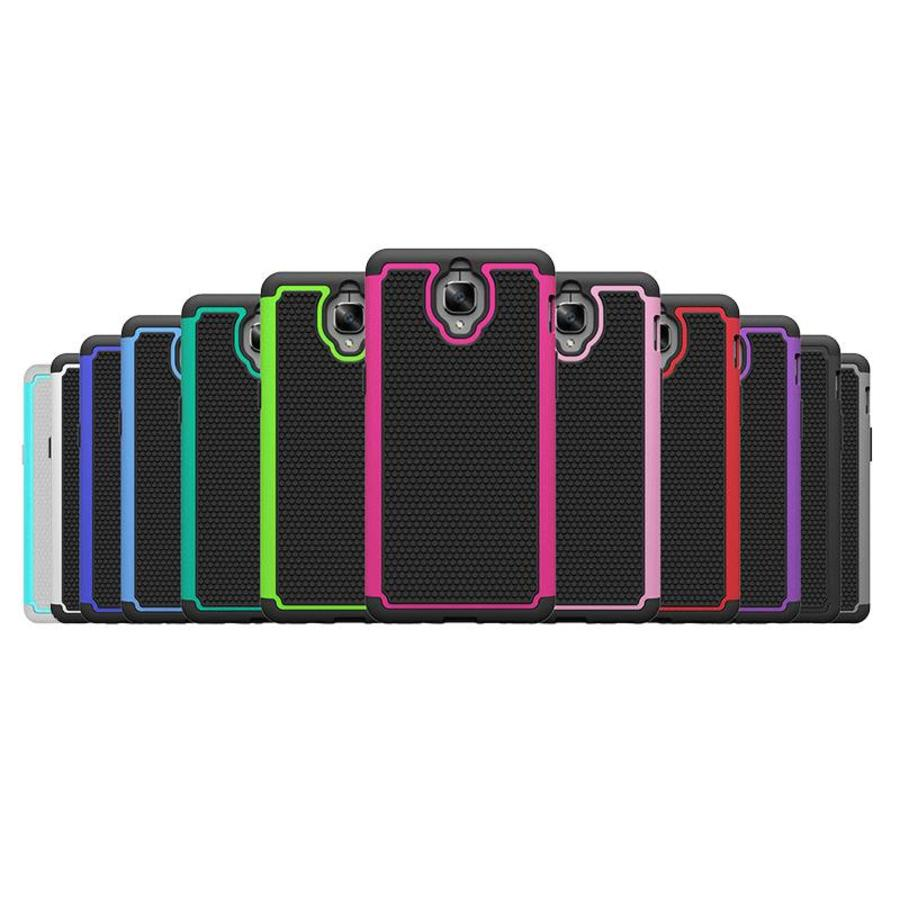Dual Layer Case Paars OnePlus 3/3T