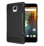 Tudia Carbon Fiber Design Case Zwart OnePlus 3/3T