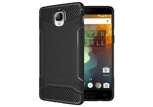 Tudia Carbon Fiber Design Case Black OnePlus 3 / 3T