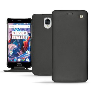 Noreve Tradition Nappa Leather Slim Case Black OnePlus 3/3T