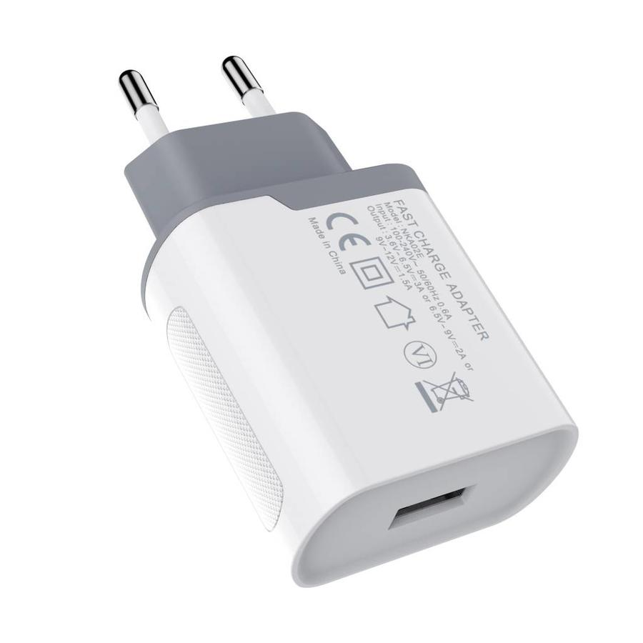 Fast Charge USB Oplader Wit OnePlus