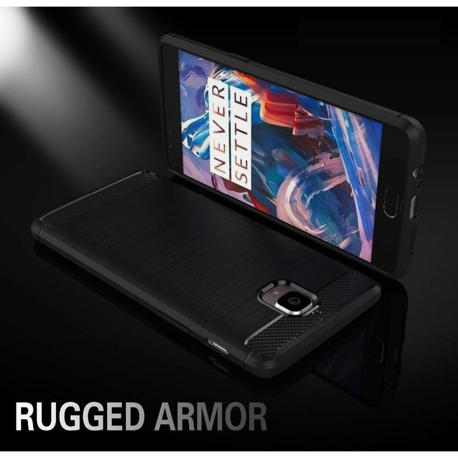 Brushed Rugged Armor Rood Hoesje OnePlus 3/3T