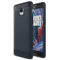 Brushed Rugged Armor Blauw Hoesje OnePlus 3/3T