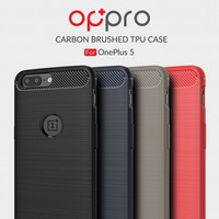 Carbon Fiber Design Case Red OnePlus 5