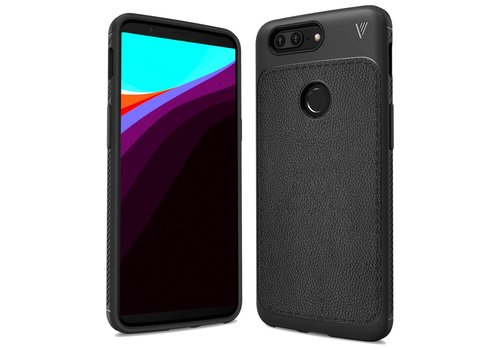 OPPRO LeatherGrip Case Black OnePlus 5T