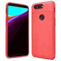LeatherGrip Case Red OnePlus 5T